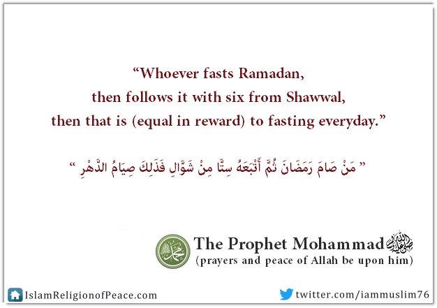 Next?  Fasting six days from Shawwal  #Ramadan #Islam <br>http://pic.twitter.com/fRuaVBZUlk