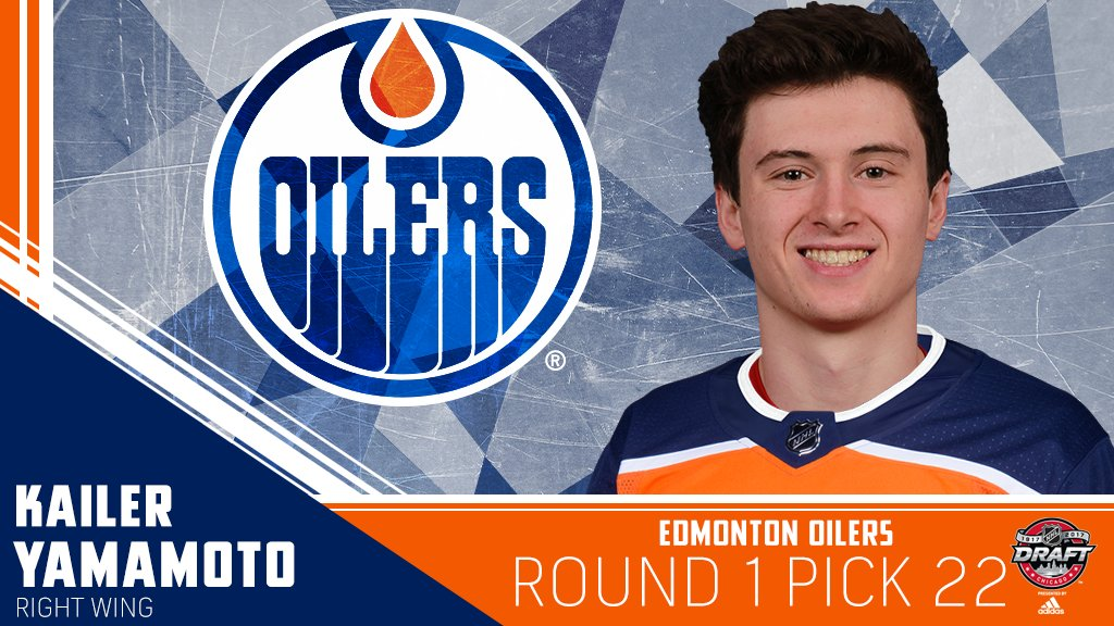 Kailer Yamamoto to the @EdmontonOilers at No. 22. #NHLDraft https://t....