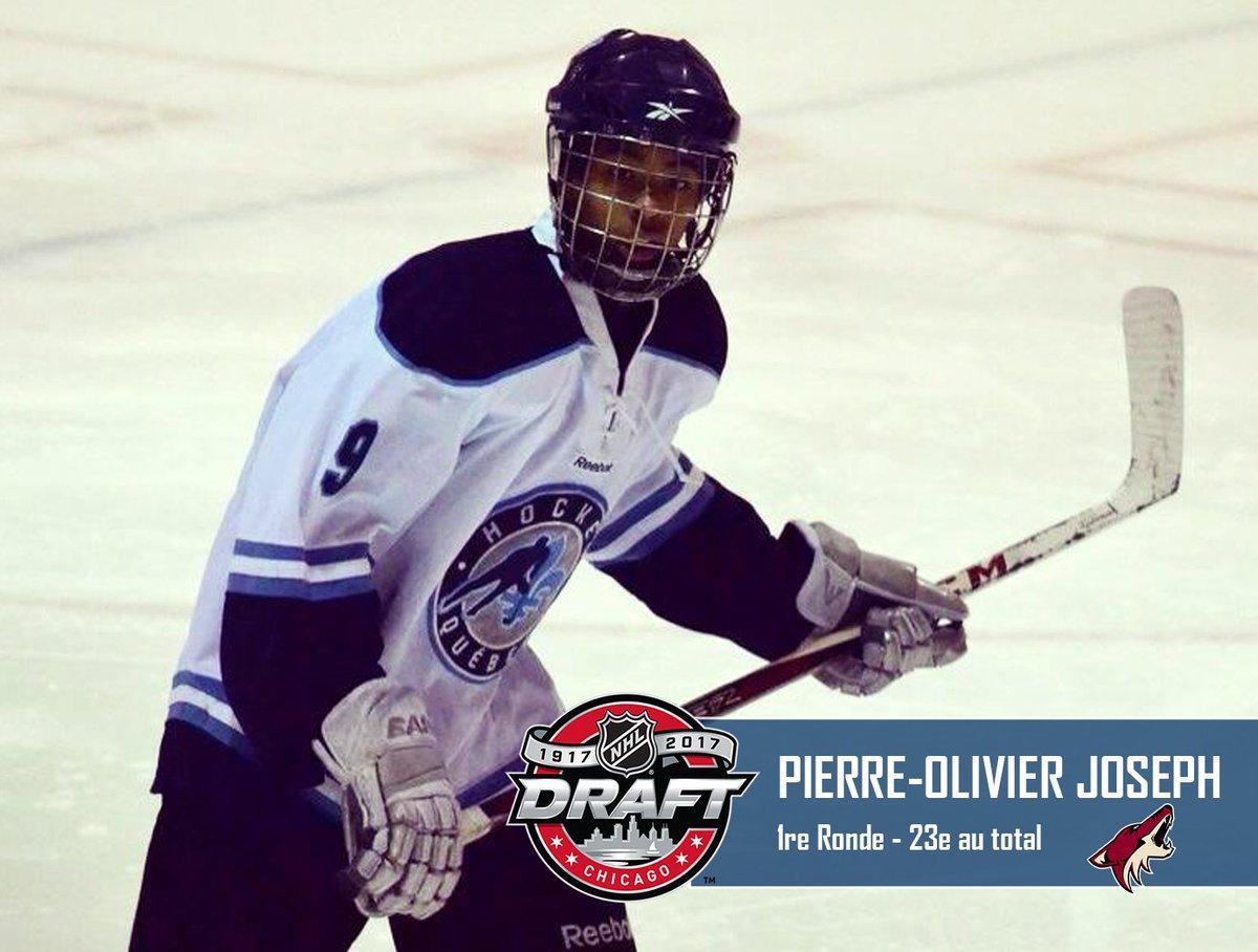 Félicitations Pierre-Olivier Joseph sélectionné au 1er tour (23e total...