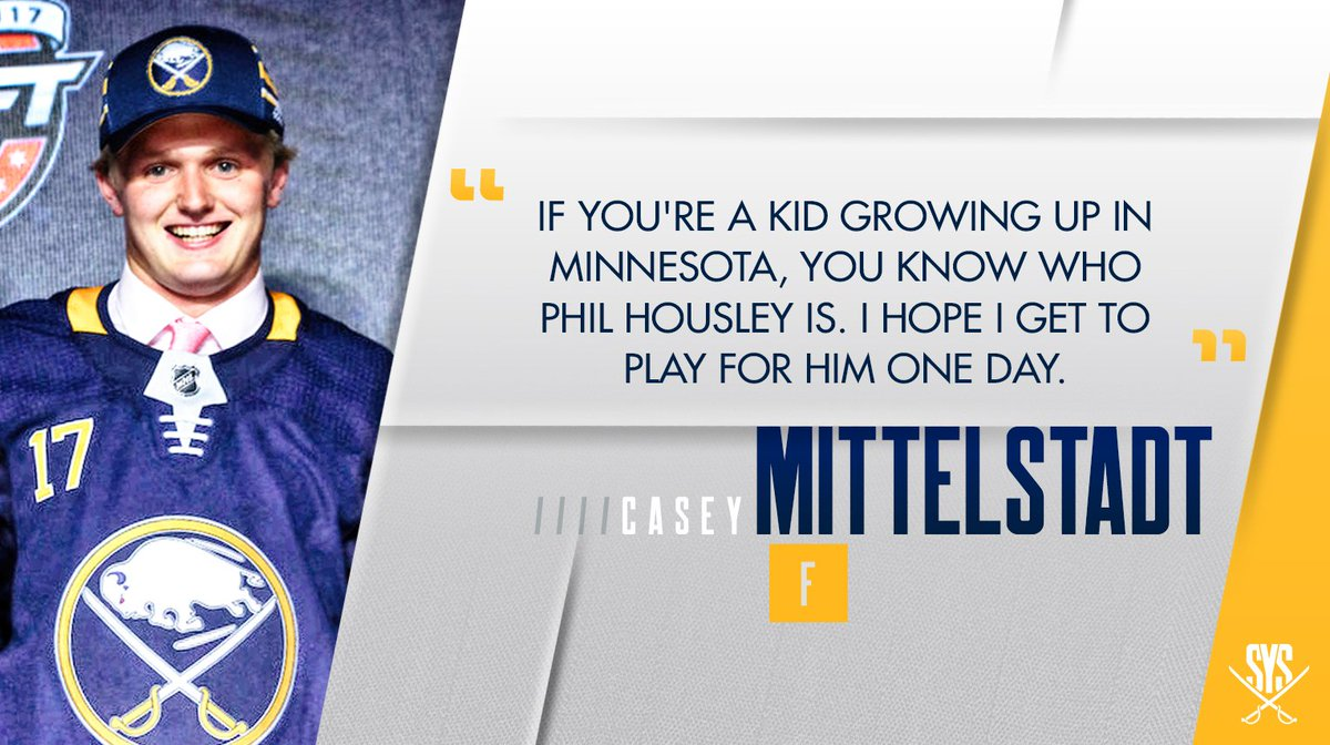 Being drafted by Buffalo had extra special meaning for Casey Mittelsta...