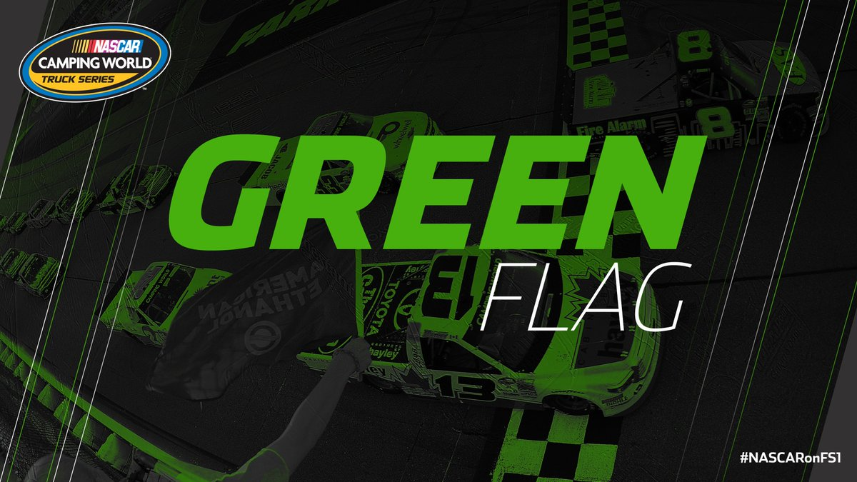 The green flies and Stage 2 is underway at @IowaSpeedway! #MMs200  Liv...