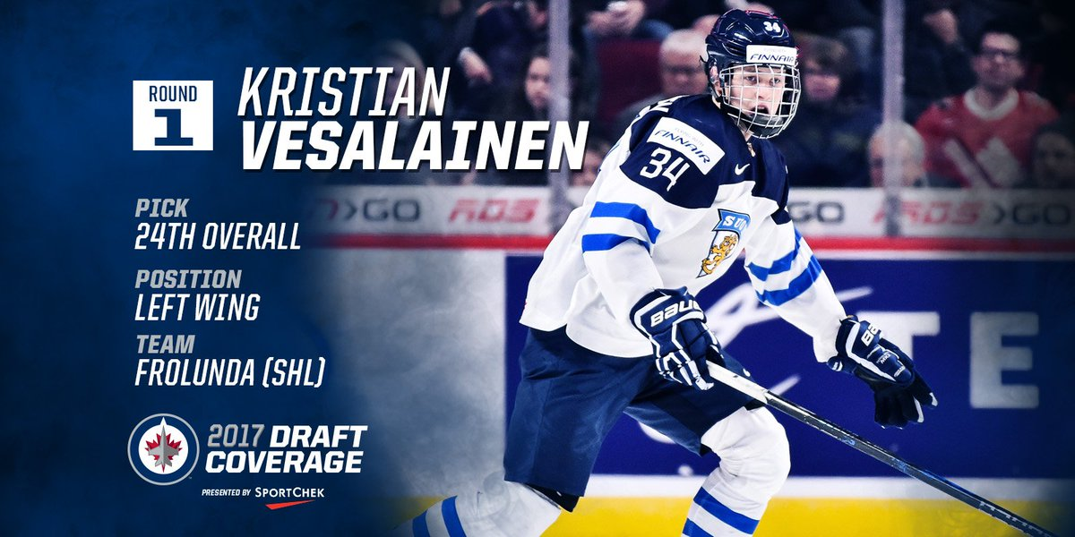 Meet the newest member of the #NHLJets:  Kristian Vesalainen! https://...