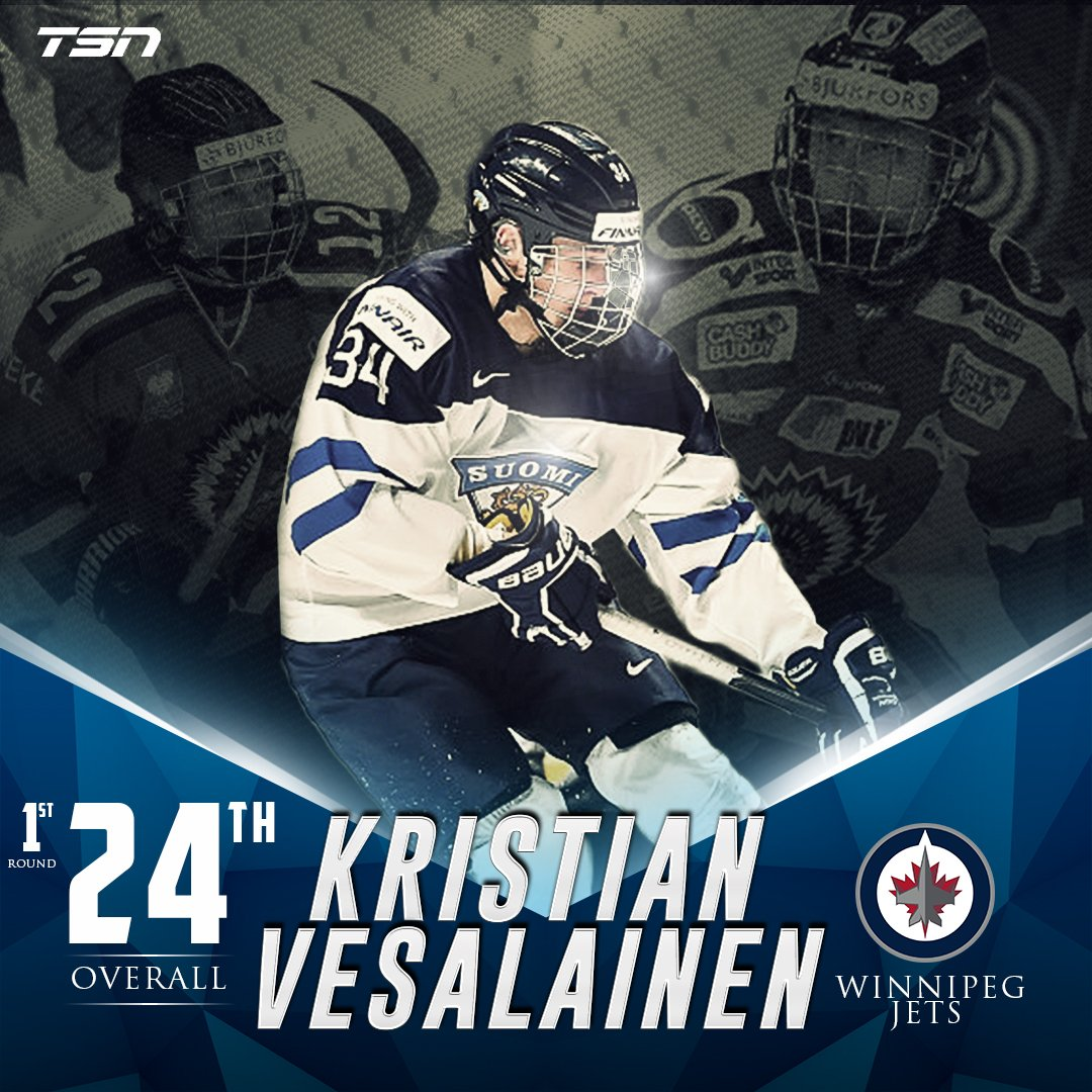 With the 24th pick in the 2017 #NHLDraft, the @NHLJets select Kristian...