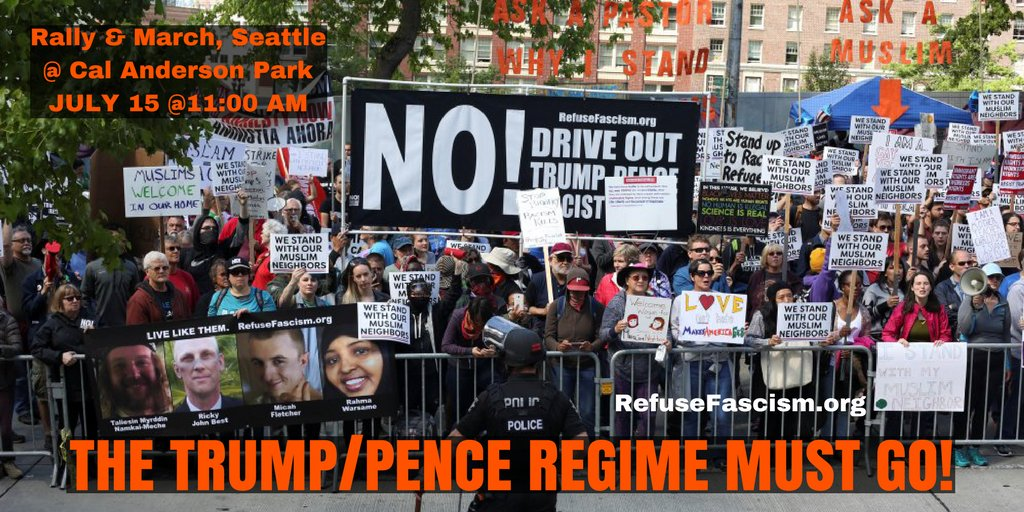 J15 In the Name of Humanity We Refuse to Accept a Fascist America. No Waiting. It will not self destruct! @RefuseFascism #Seattle #protest <br>http://pic.twitter.com/UZhpGNGr4b