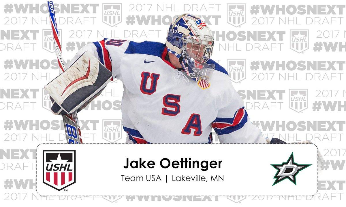 #NHLDraft | The @DallasStars select Jake Oettinger 26th overall https:...