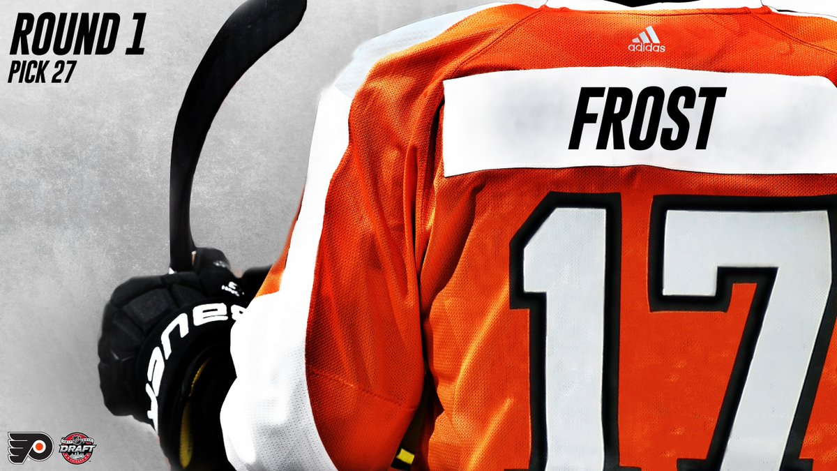 With the #27 pick, the #Flyers have selected Morgan Frost! Welcome to...
