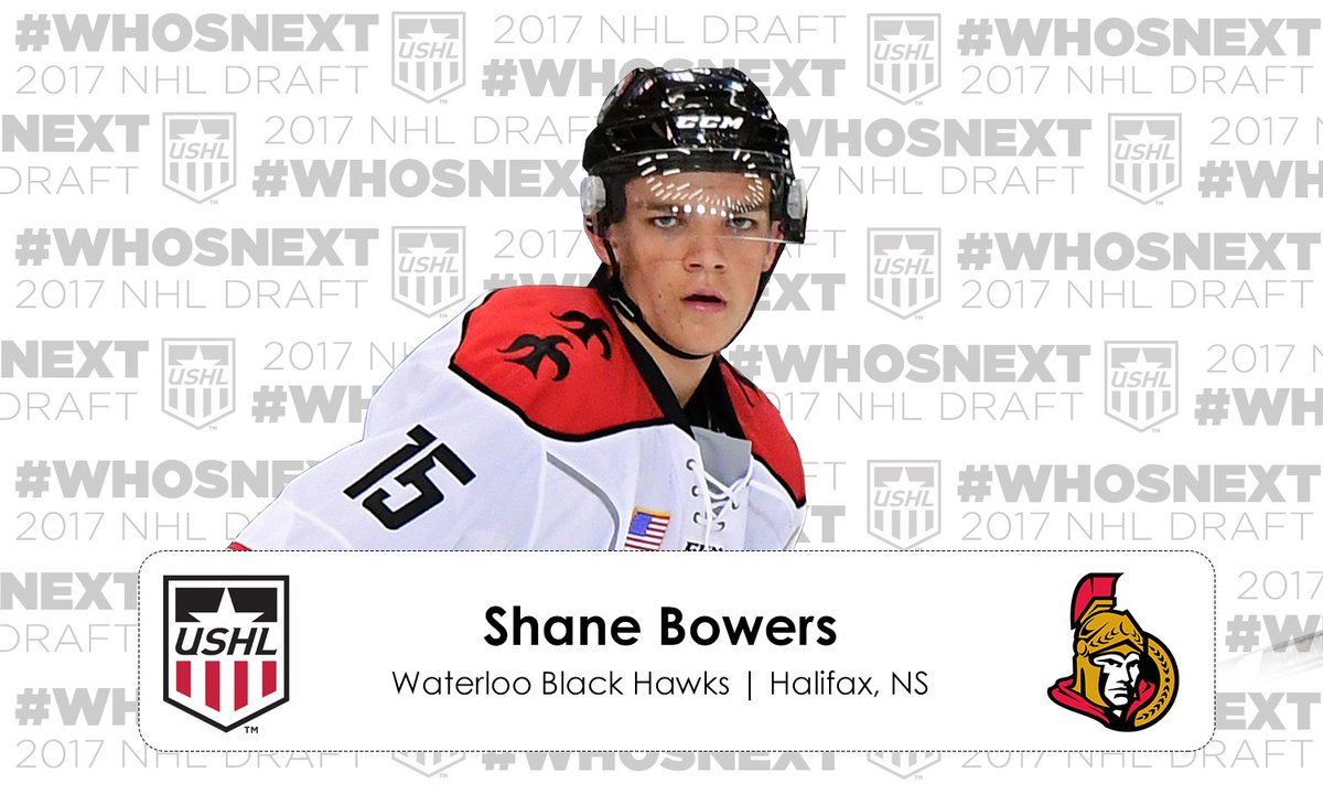 #NHLDraft | The @Senators select Shane Bowers 28th overall https://t.c...