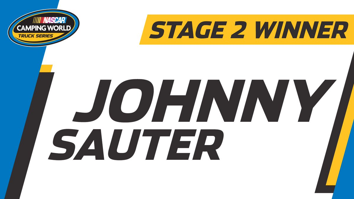 Stage 2 ends under this caution, and it's points leader @JohnnySauter...