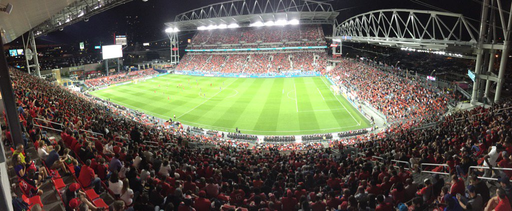 Favourite view in #Toronto - football under the lights. #TFCLive https...