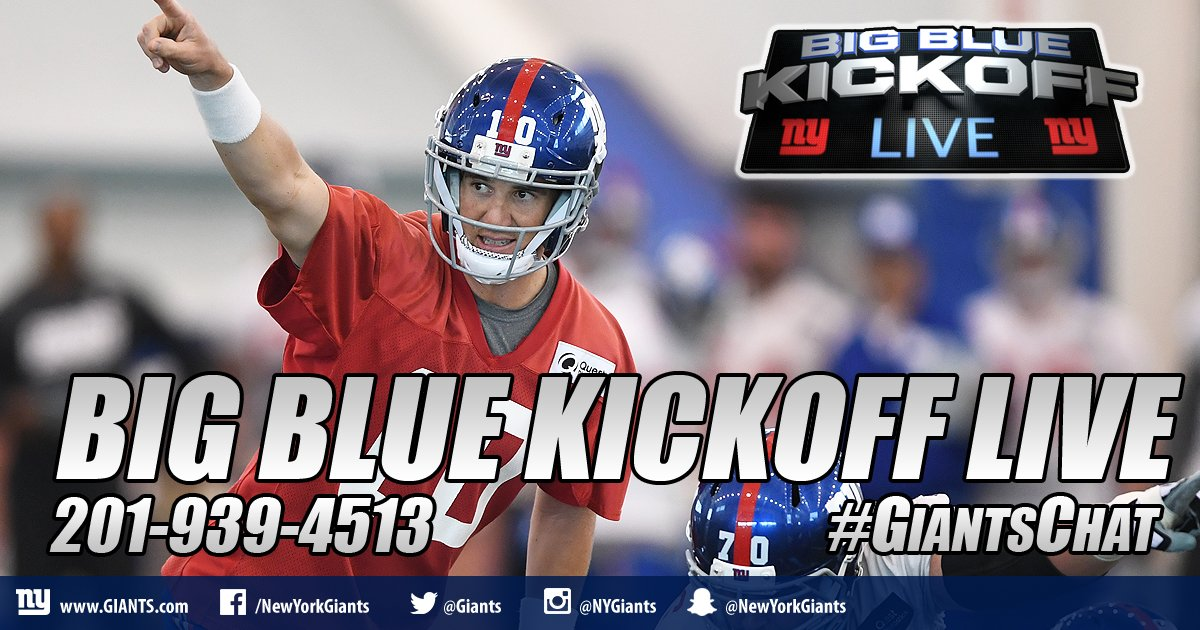 Big Blue Kickoff Live previews an early-season road matchup WATCH HERE:  http:// Giants.com/BigBlueKickoff  &nbsp;   #GiantsChat <br>http://pic.twitter.com/4W3fiQPBgq