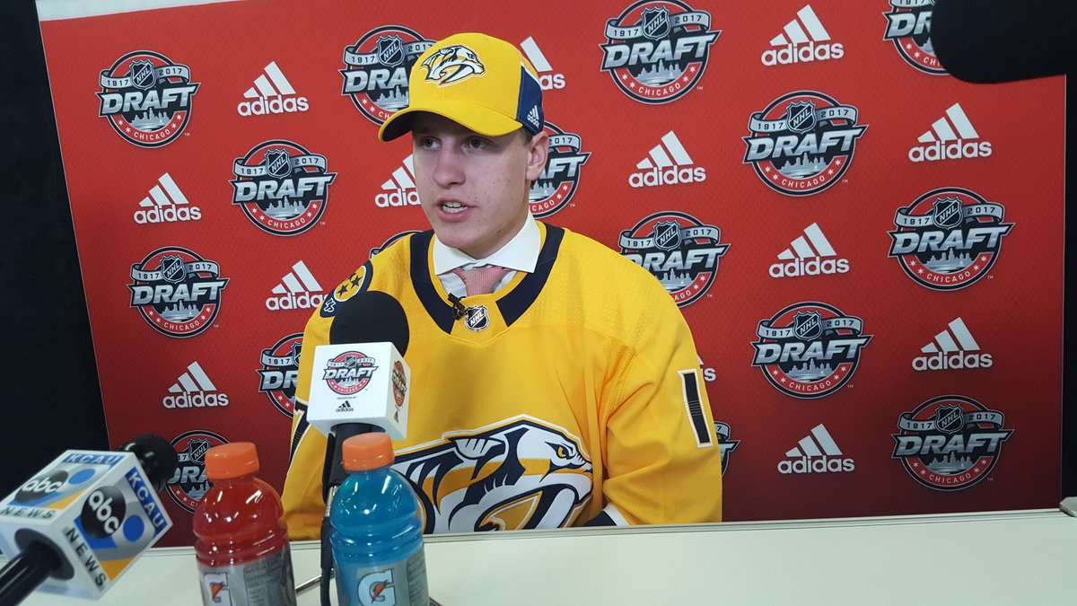 Here he is. #Preds 1st round pick, Eeli Tolvanen. https://t.co/idUEZfn...