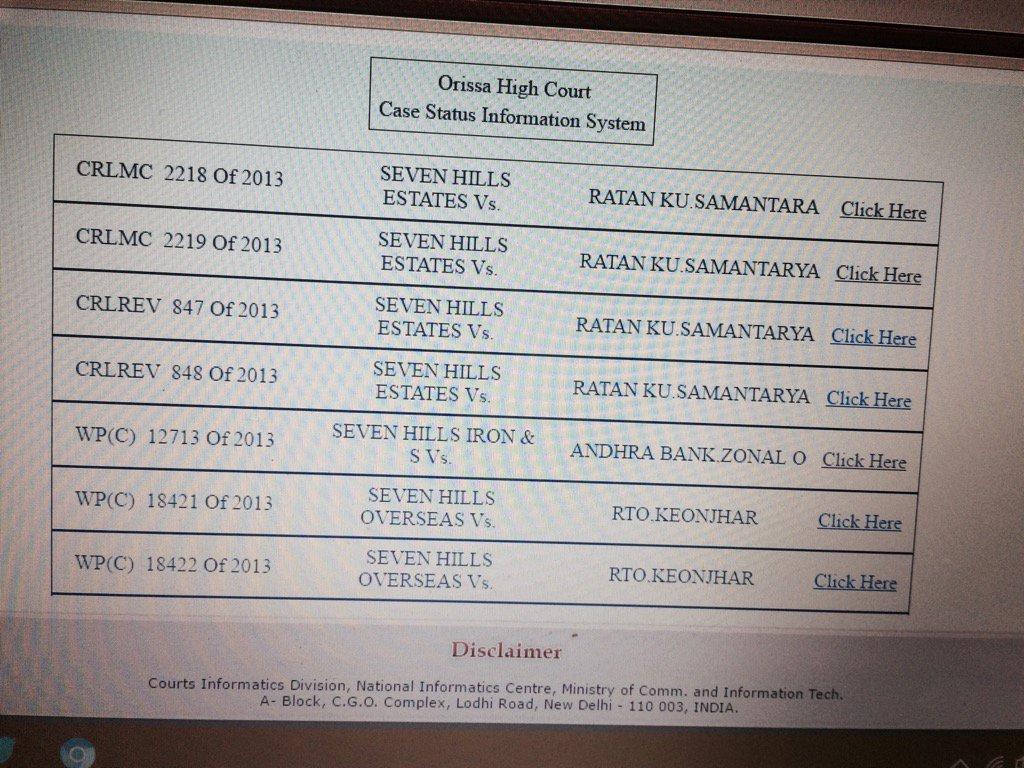 Cases against #seven hills estate #berhampur in high court @homeodisha @odisha_police<br>http://pic.twitter.com/uj0HRC05Oh