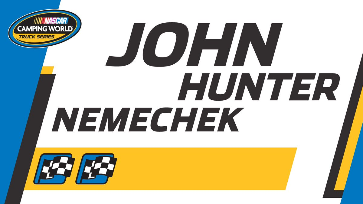 CHECKERED FLAG: @JHNemechek with an incredible late-race restart to wi...