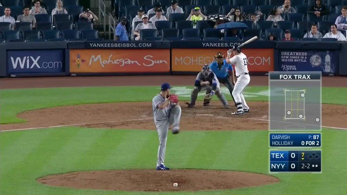 #ダルビッシュ有 はついに10奪三振 #ヤンキースvsレンジャーズ は7回終えて、両者譲らず0-0 #田中将大 #MLB #DAZN htt...