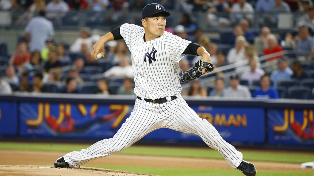 Tanaka ⏰!  That's 9⃣ strikeouts through 8⃣shutout innings! https://t.c...