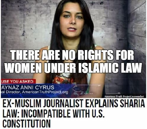 Ex-Muslim Journalist Explains Sharia Law: Incompatible w/ US Constitution   https://t.co/jxry5CEiij   #WomensRights #HumanRights #MAGA