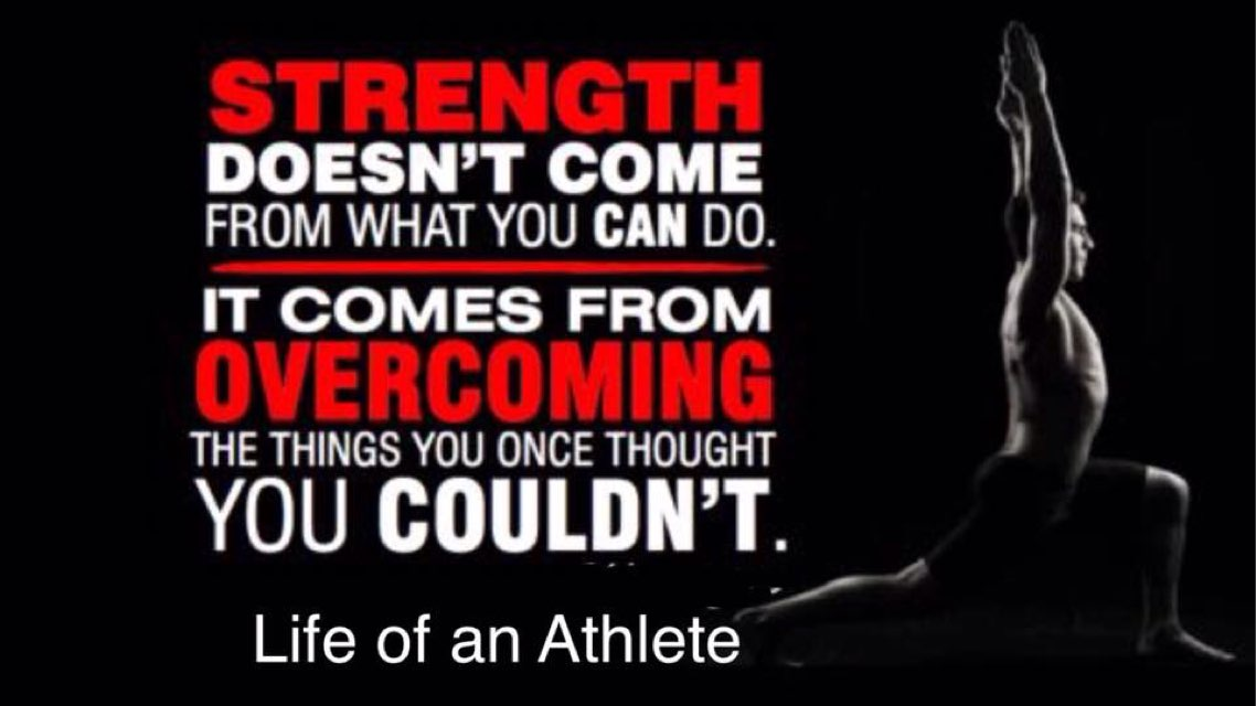 We Acquire the Strength that we Overcome.  #inspiration #StrongmanJohn...