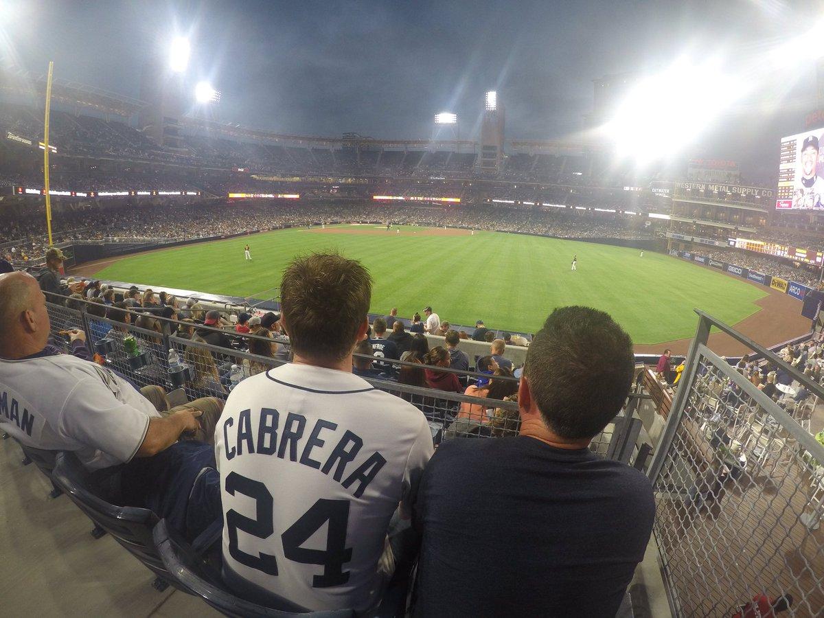 Through five innings, San Diego leads 1-0 #CloseGameAlert #TuneIn  <br>http://pic.twitter.com/1Spy8VlJyM
