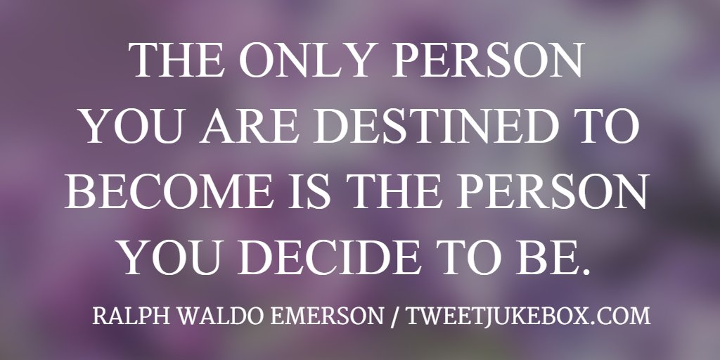 The only person you are destined to... Ralph W. Emerson #quote #quotes...