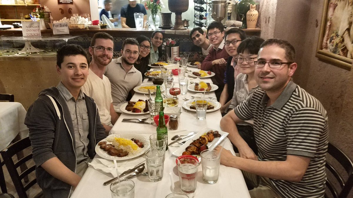 Had a lovely impromptu dinner with some of the #langerlab team! (The food at Molana's was amazing) <br>http://pic.twitter.com/9AwSXCCJQa