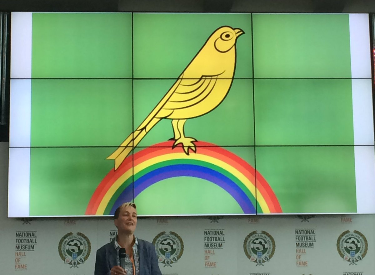 She&#39;s one of our own! @di_ceee opening the LGBT+ fans groups conference #CALLITOUT @prideinfootball @NorwichCityFC #manchester <br>http://pic.twitter.com/kDymLuGcLX