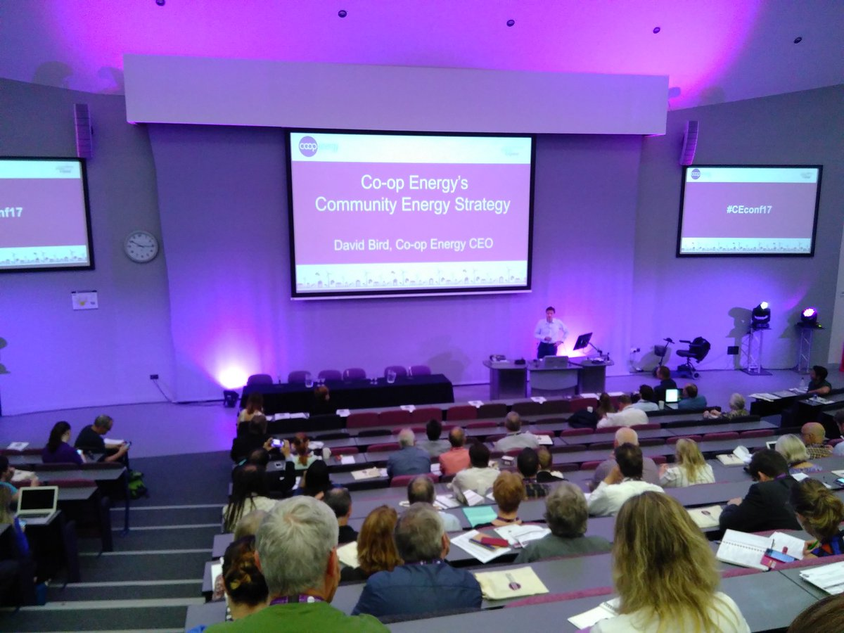 David Bird, CEO of @CoopEnergy kicks off #CEconf17 in #Manchester, explains their community energy strategy. @midcountiescoop #coops #socent<br>http://pic.twitter.com/yuXykQsRva