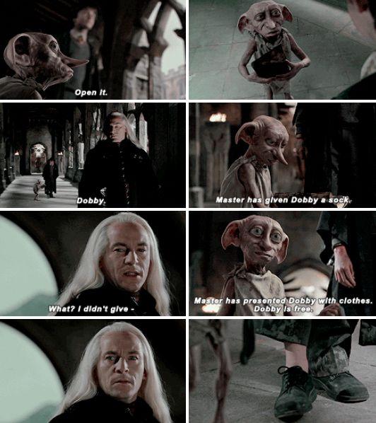 """Dobby is free."" #HappyBirthdayDobby"