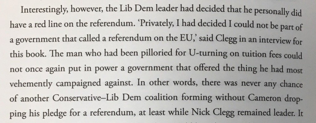 Nick Clegg, to Farrell & Goldsmith: Cameron wd have insisted on referendum in hung parliament but NC won't have it