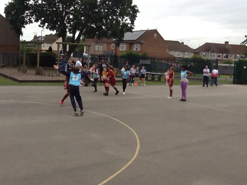 A wonderful game of netball between St. Gregory's and St. John Fisher's children. Well done to all!