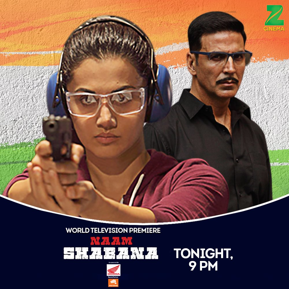 Watch me as Ajay Singh once again, this time on the World Television Premiere of #NaamShabanaOnZeeCinema tonight, 9pm on @zeecinema