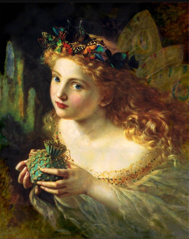 24th June is #midsummersday. #Portrait of a #Fairy, Sophie Gengembre Anderson, (1869).#French-born #British #artist #Victorian #romantic<br>http://pic.twitter.com/tVbcQ2MIVM