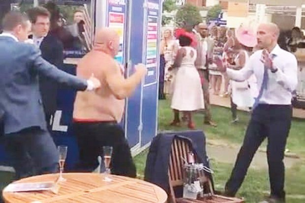 Royal Ascot brawler UNMASKED: Bare-chested boozer reveals exactly why THAT fight started  https://t.co/zPc1Sle62b