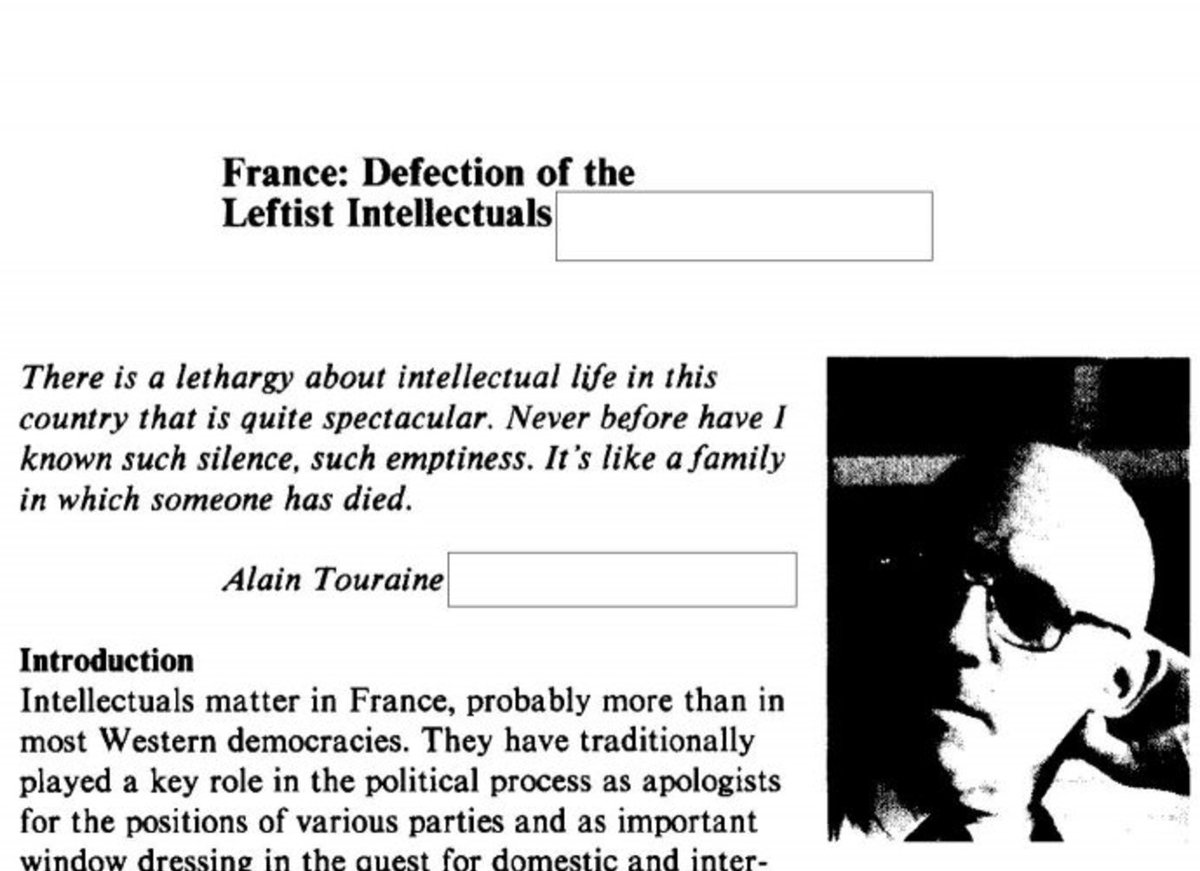 If in the 1980s #CIA analysts have been reading #Foucault, #Lacan &amp; #Barthes, what are they reading today?   https://www. cia.gov/library/readin groom/docs/CIA-RDP86S00588R000300380001-5.PDF &nbsp; … <br>http://pic.twitter.com/8rLi2RQQjZ