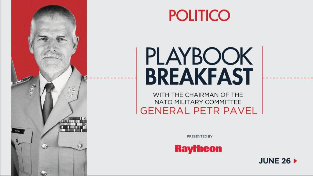 General Pavel to discuss the future of #NATO at @politico Brussels' #PlaybookBreakfast on Monday. Watch live here: https://t.co/U9Eiz2l811