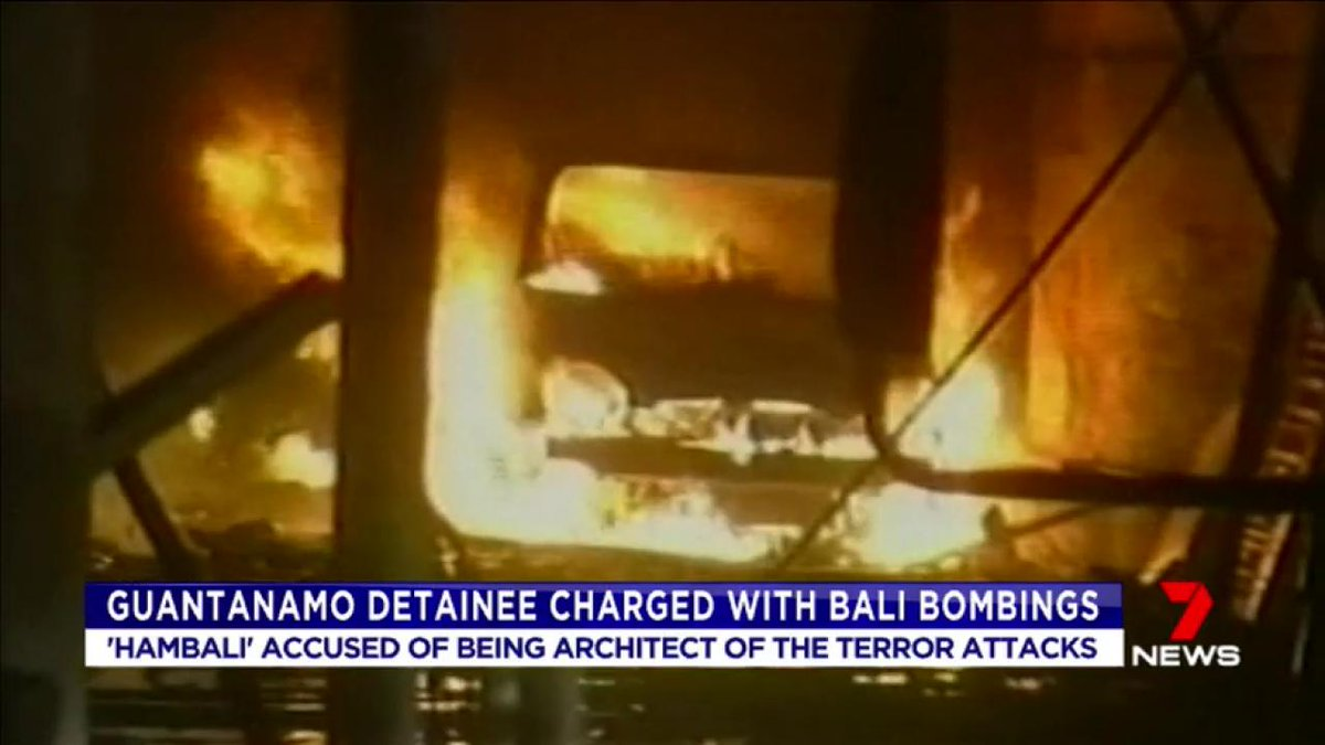 A Guantanamo bay prisoner has been charged over the Bali bombings. #7News
