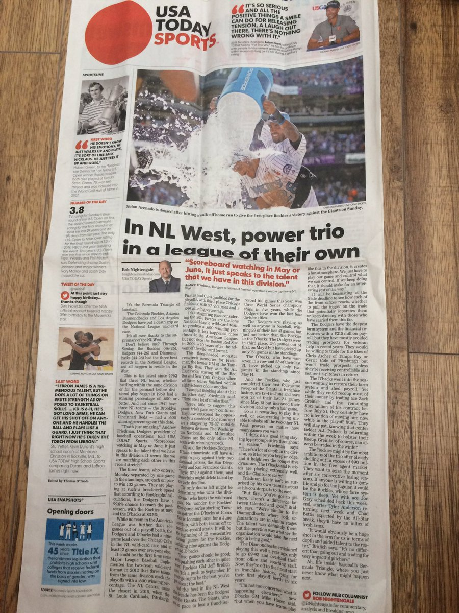 The USA Today sports front I found in Dresden doesn't jump. Is this a foreign-edition thing?
