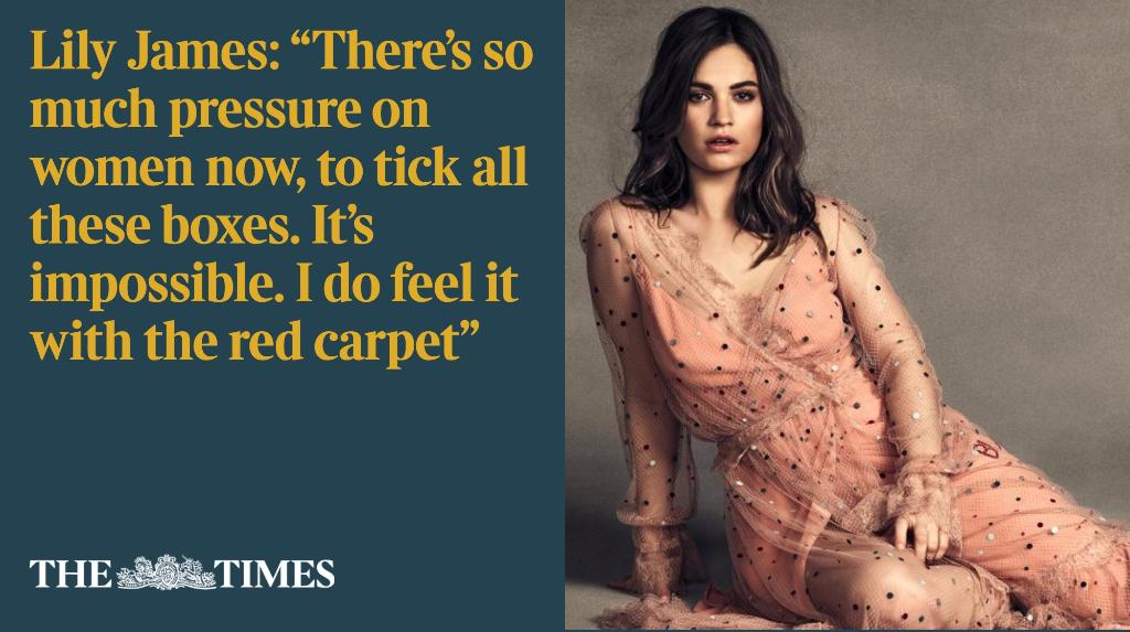 Exclusive Interview with Lily James: How Downton's flirtiest aristocrat wowed Hollywood https://t.co/hwSNNZJjfm