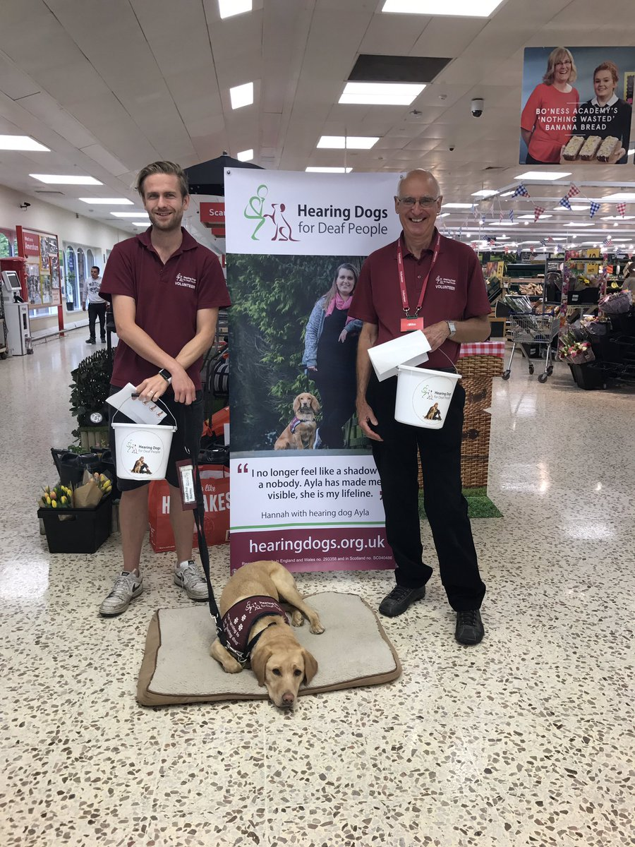 We\'re at @Tesco in Amersham this morning fundraising for @HearingDogs - come and say Hi 👋🏼