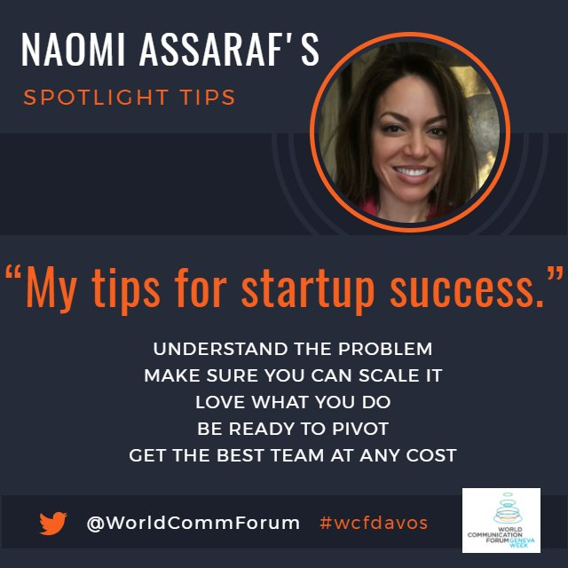 Looking to start a company? Here are &quot;5 Tips for #Startup Success&quot; from tech #CMO and founder @nassaraf.  #vc #cvc #entrepreneur #wcfdavos<br>http://pic.twitter.com/gzPGik1jqZ