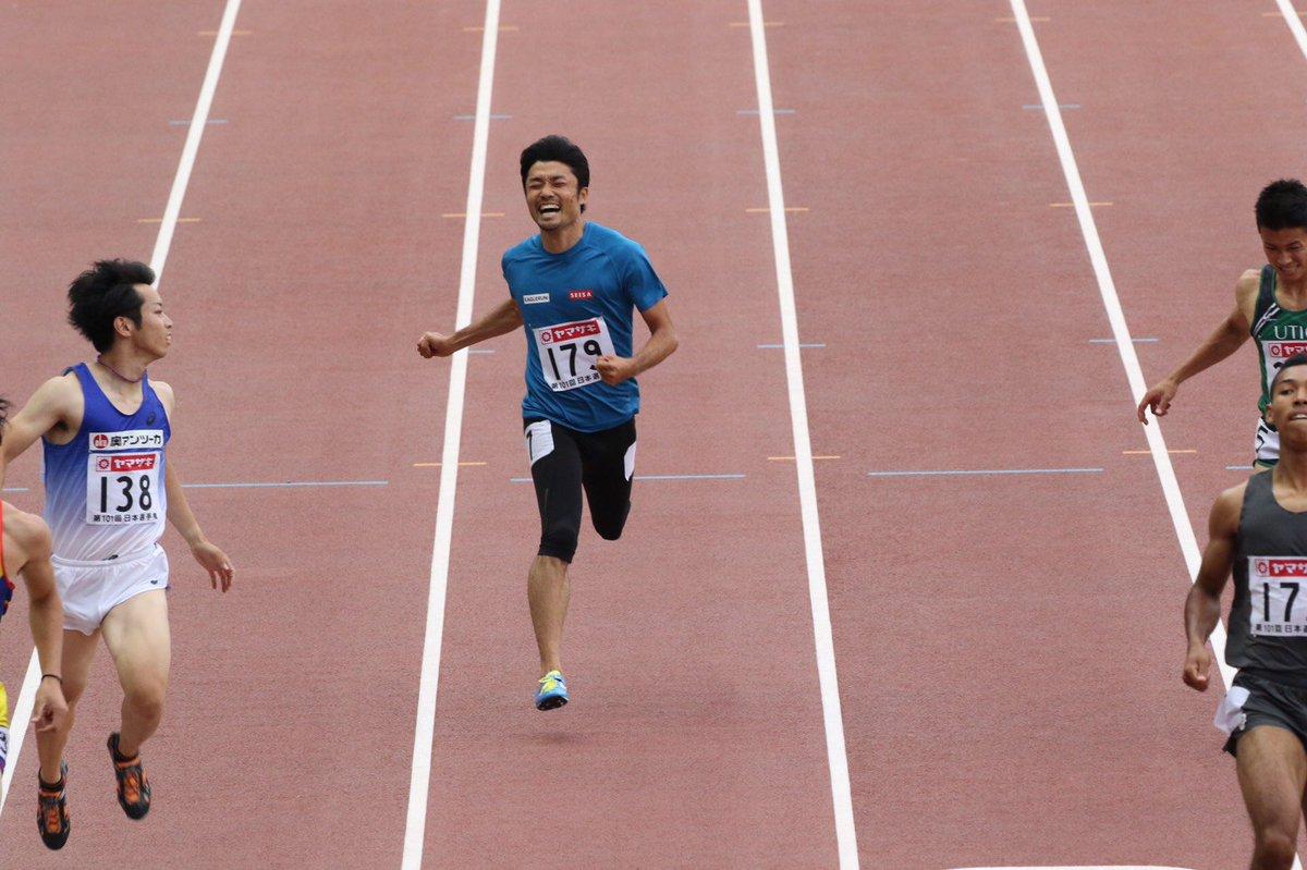 【#日本選手権】 #末續慎吾 選手(SEISA)が9年ぶりに日本選手権に出場!20秒03の日本記録保持者をヤンマースタジアム長居のファンは大歓声で迎えました。結果は21.50で8位。それでも「37歳日本最高記録」を達成し、レジェンドは去っていきました。#陸上