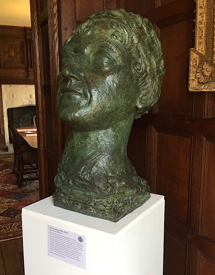 This bronze is being much admired! A beautiful piece of work, in a room #Austen knew