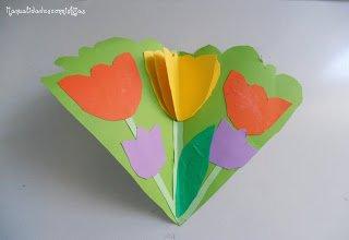 Tarjeta de flores para la #primavera con colores llamativos y #molde #krokotak mtr.cool/vgxuhdr