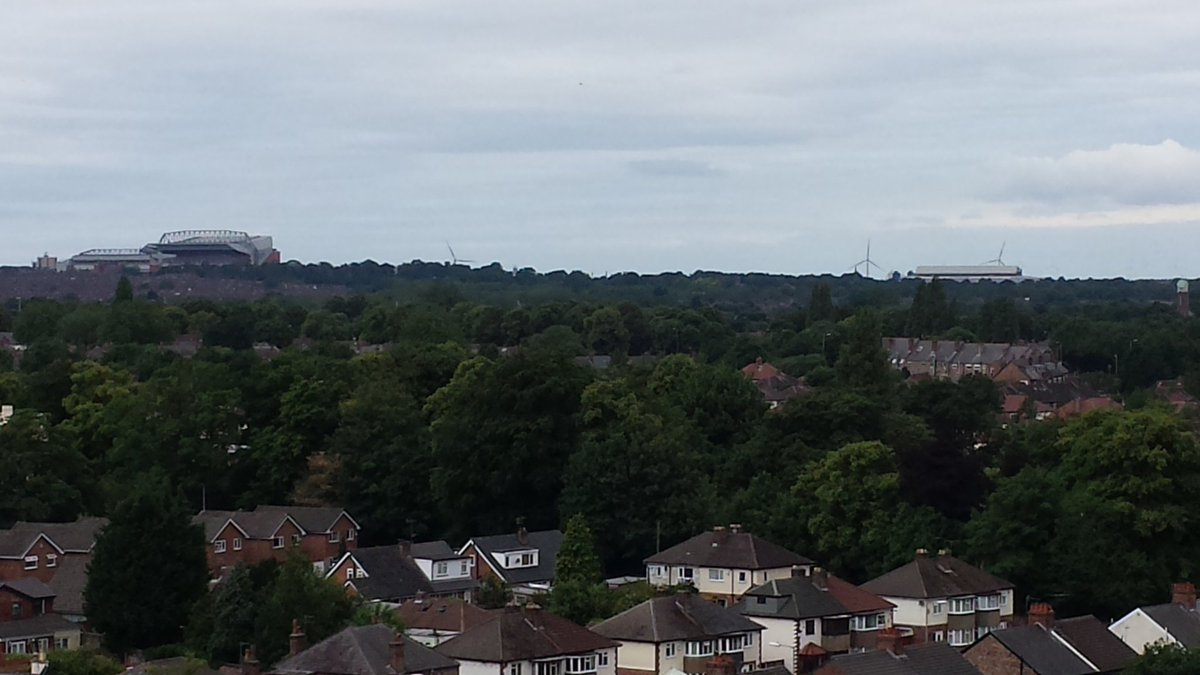 #Liverpool from St Mary&#39;s Church, West Derby today. Anfield, Goodison Park, @LivCathedral @stjohnsbeacon  @PeelPorts @scousescene #zoom <br>http://pic.twitter.com/zk9qdUKell