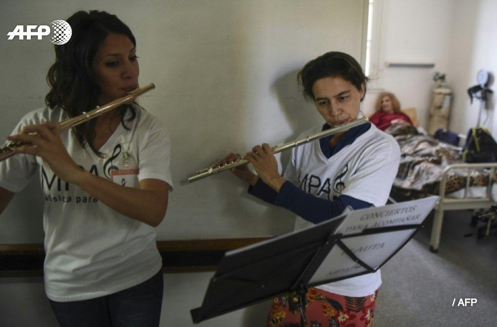 Musique de chambre à l'hôpital, un concert pour apaiser la douleur https://t.co/cpDBF0sSZk #AFP