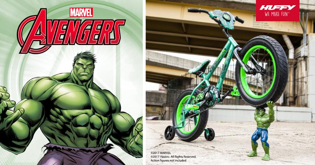 Explore the heroic power of @HuffyBicycles&#39; Marvel #Hulk bike - with room to hold a Titan Hero Series action figure! <br>http://pic.twitter.com/JvB5uZCHat