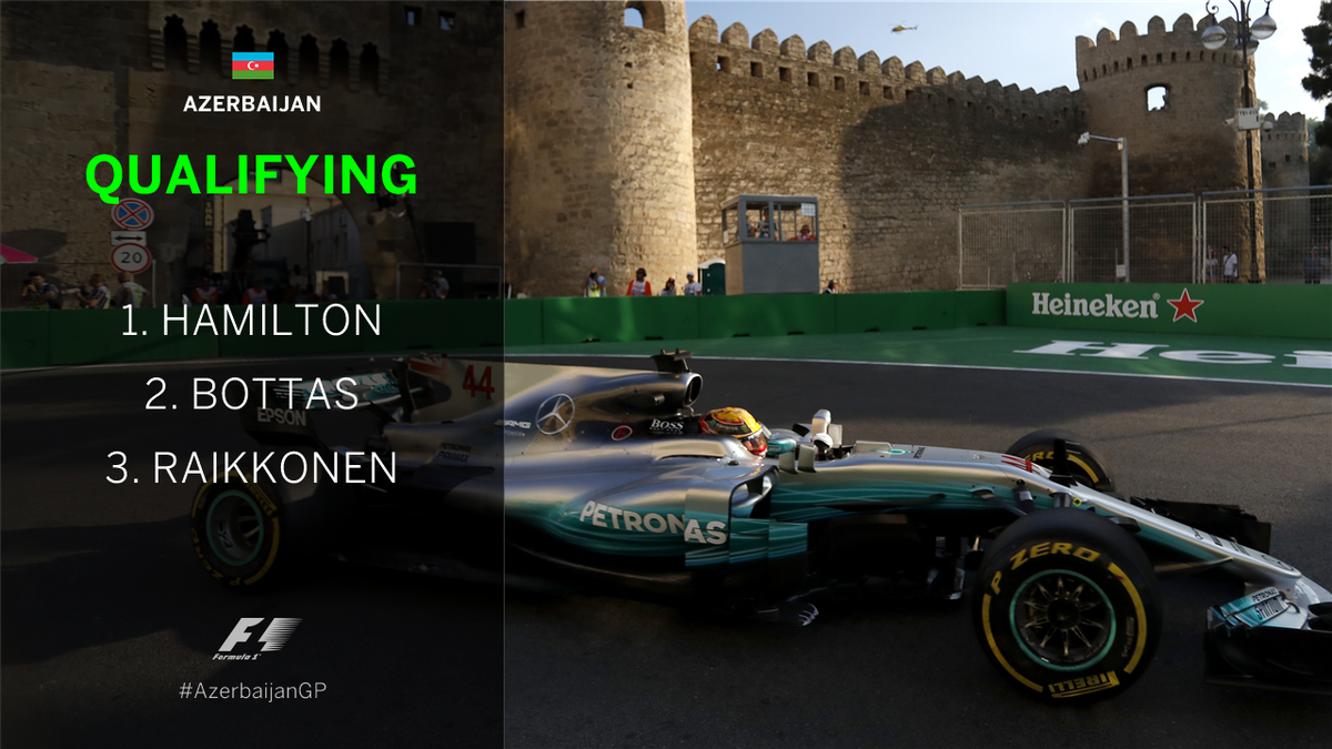 BREAKING: @LewisHamilton takes pole position at the #AzerbaijanGP ahea...