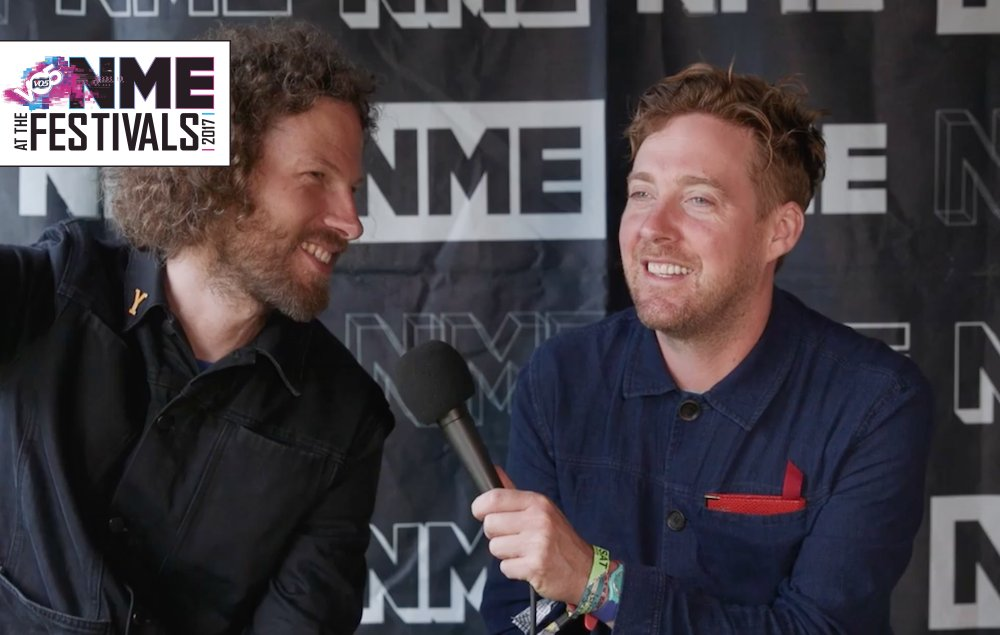.@KaiserChiefs recall their sweaty meeting with Brad Pitt #VO5xNMEFest...