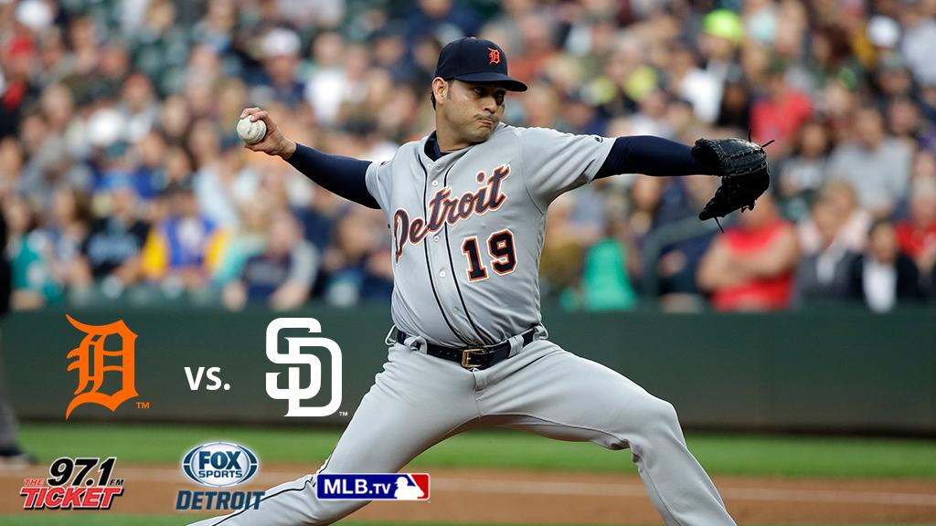 Anibal Sanchez is on the mound when we play the Padres at 10:10 ET.  P...