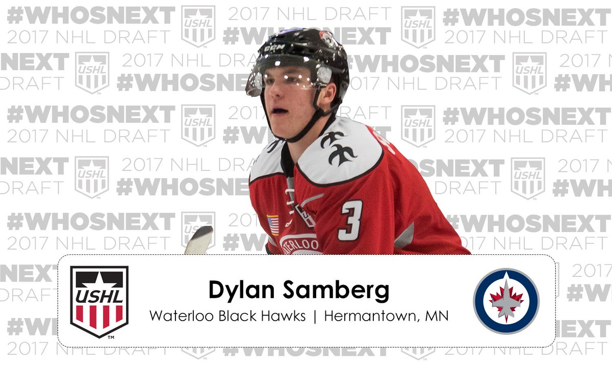 #NHLDraft | The @NHLJets select Dylan Samberg in the 2nd round, 43rd o...