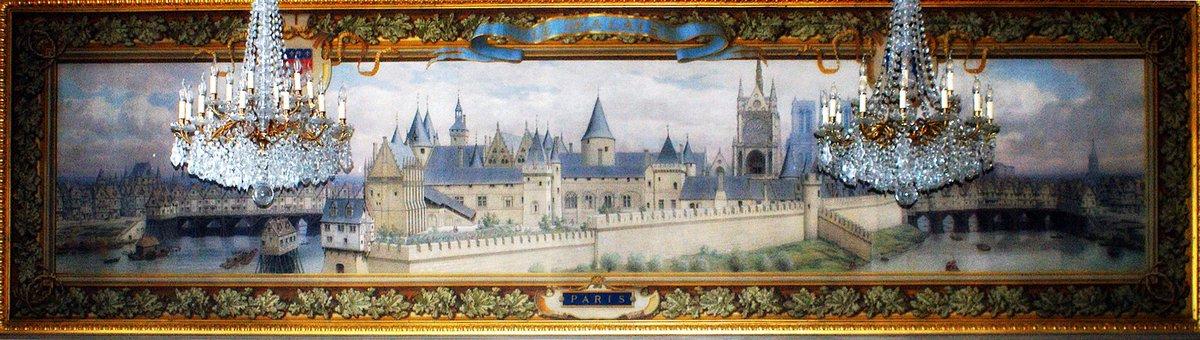 [#MuseumWeek] #TravelsMW Voyage dans le temps : le palais médiéval de la Cité (Girard 1884 -ch. du conseil de la 1re ch. civile) @MuseumWeek